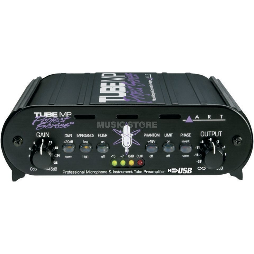 ART Applied Research & Technology Tube MP Project Series USB 1-Ch Tube Mic/LineAmp/DI/USB Produktbild
