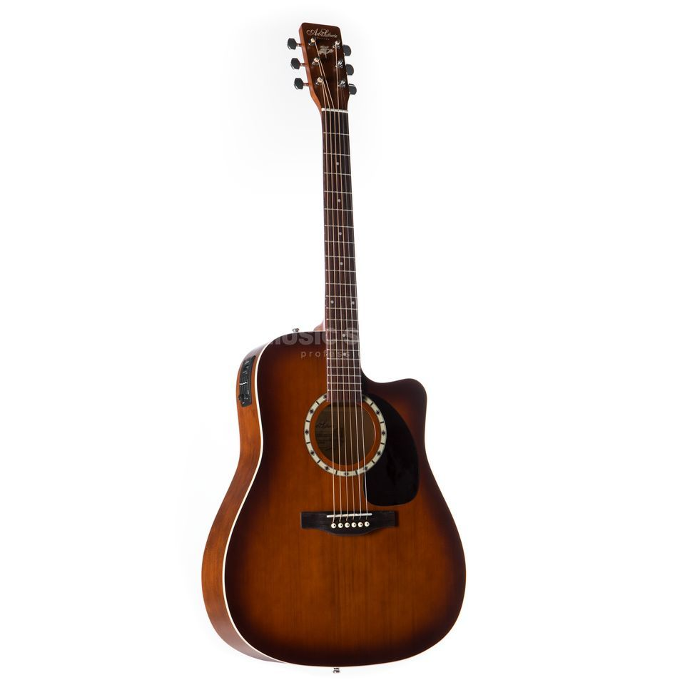 Art Lutherie Dreadnought, Antique Burst Cedar CW QUANTUM EQ Produktbillede