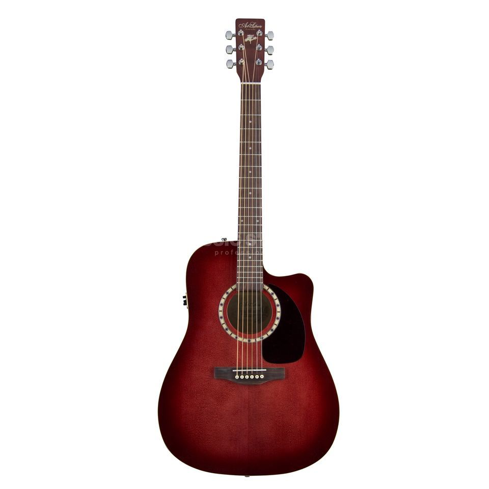 Art Lutherie Dreadnought Trans Red Spruce CW QUANTUM EQ solid Spruce Top Produktbillede
