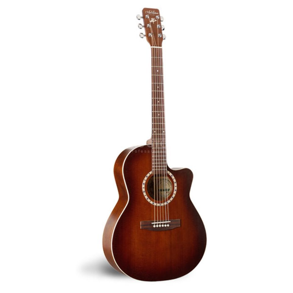 Art Lutherie Folk CW Cedar Q1 Antique Burst with Cutaway+Quantum 1 Preamp Produktbillede