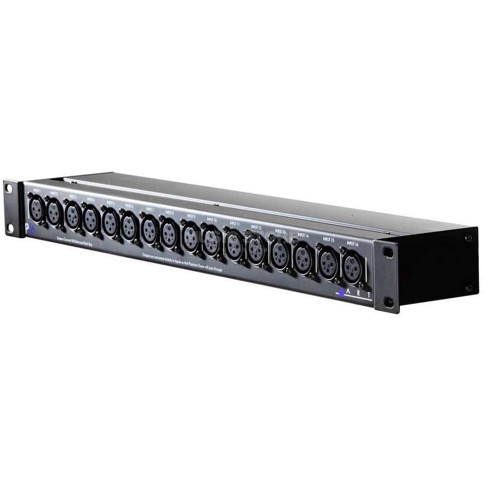 ART P16 Balanced XLR Patchbay    Product Image