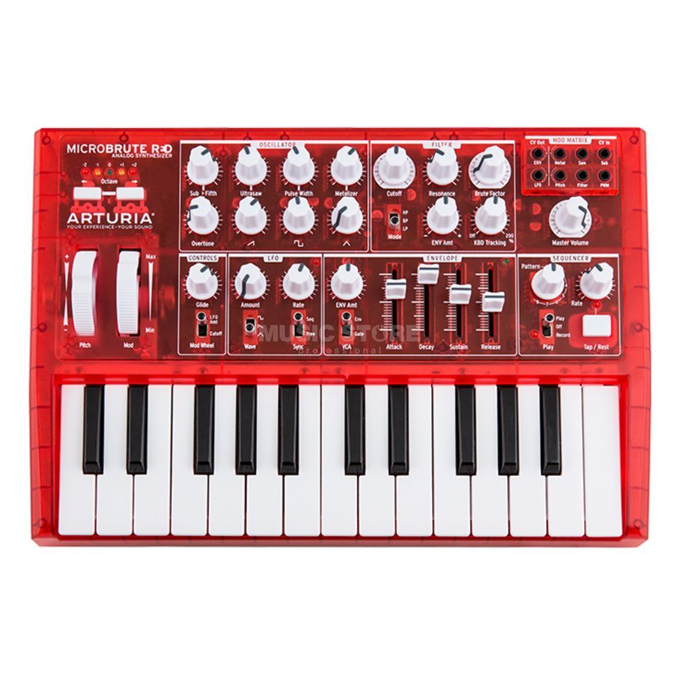 Arturia MicroBrute Red Analog Synthesizer Zdjęcie produktu