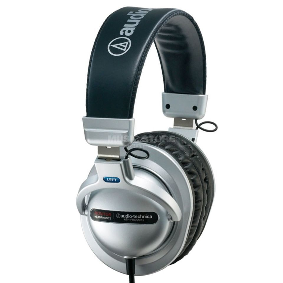 Audio-Technica ATH-PRO5 MK2 Silver Professional DJ Headphones Product Image