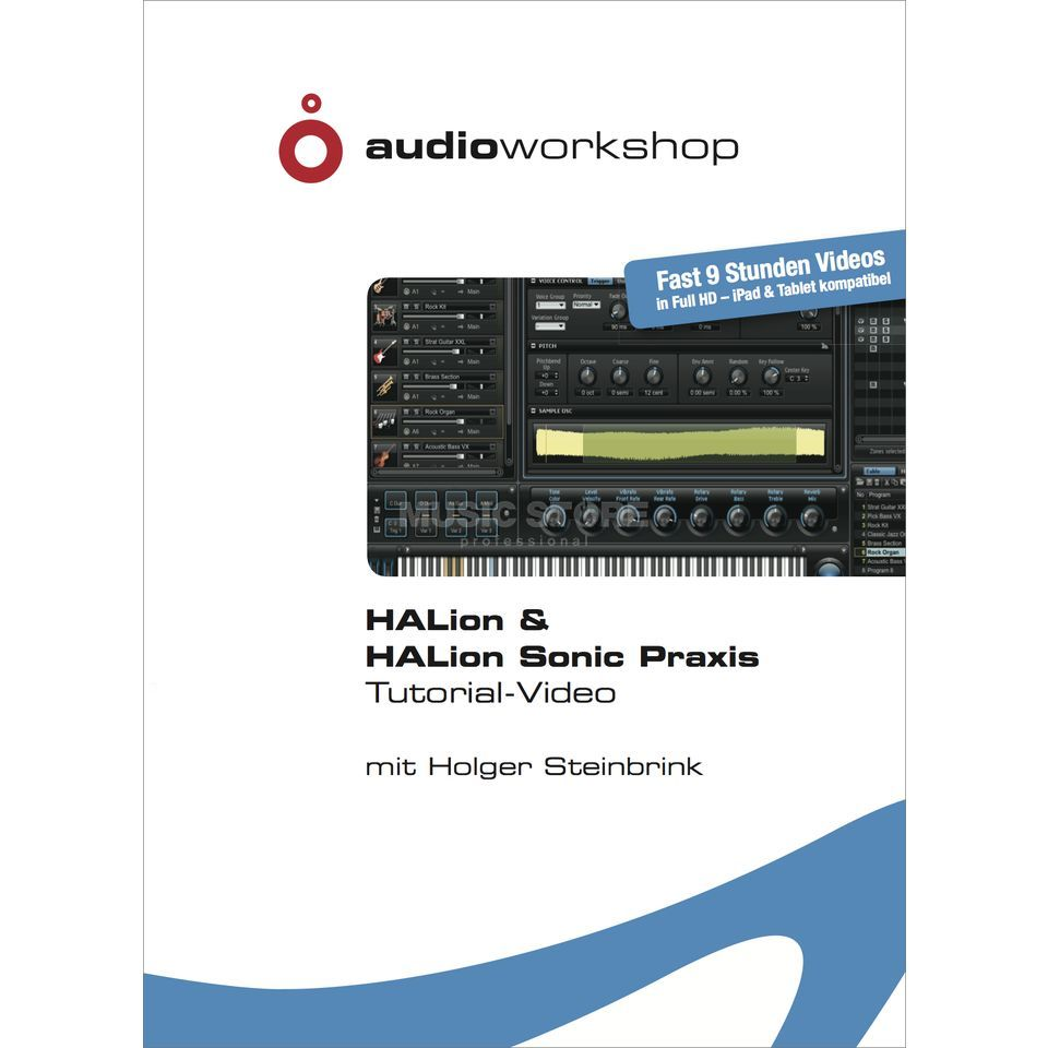 Audio Workshop HALion & HALion Sonic Praxis Tutorial DVD, DE Produktbillede