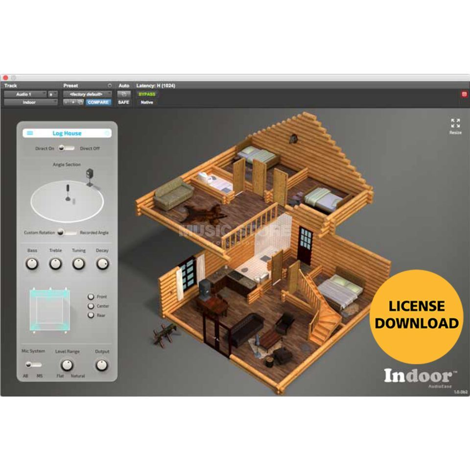 Audioease Indoor Interior Acoustics License Code Imagem do produto