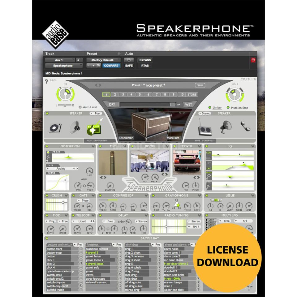 Audioease Speakerphone 2 Plug In - Download license Product Image
