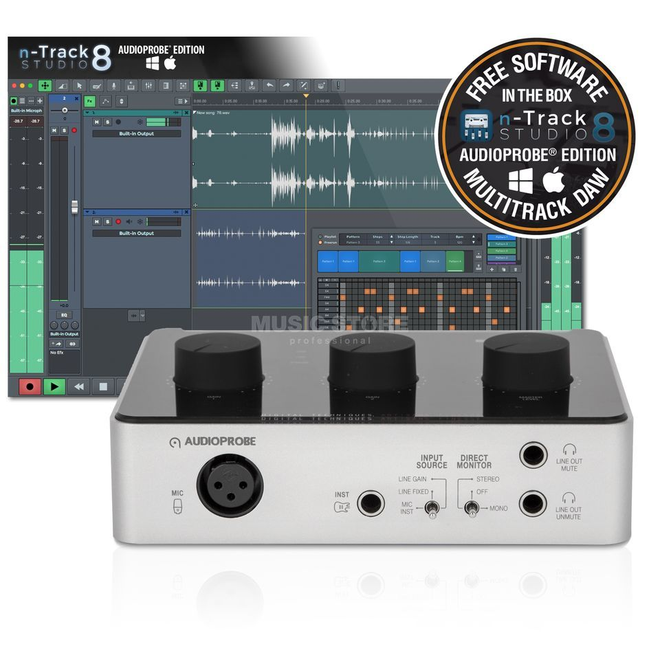 Audioprobe CUE 110 n-Track Bundle USB-Audiointerface Produktbillede