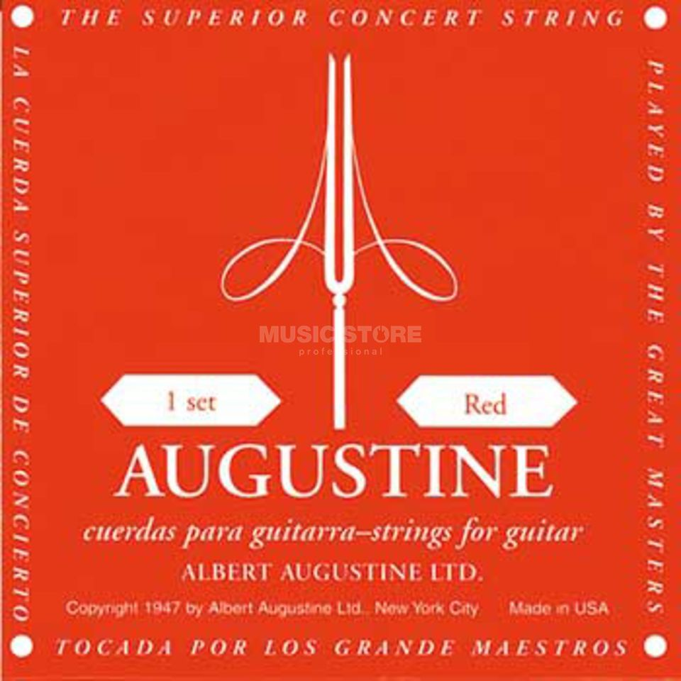 Augustine C-Guit.Strings, red  Produktbillede