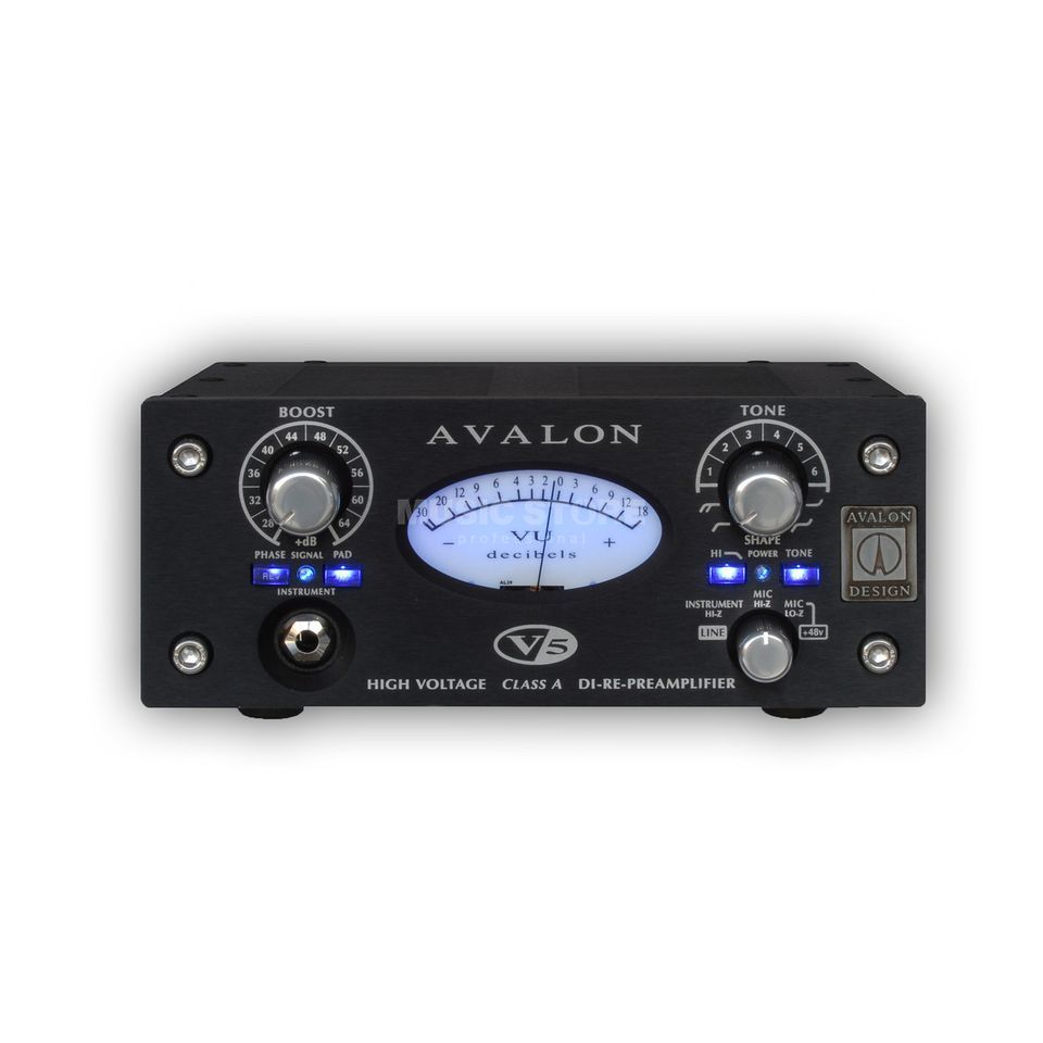 Avalon Design V5 Preamp & DI, Black    Product Image