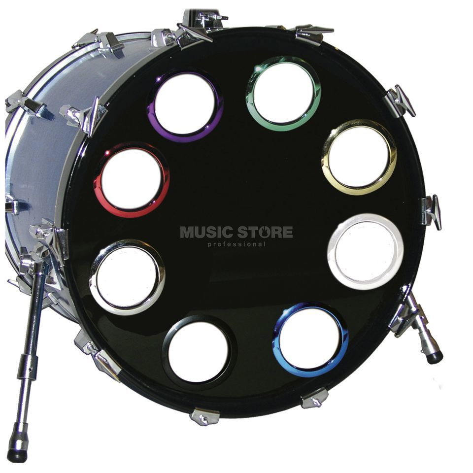 "BASS DRUM O´S BD-Fell Verstõrkungsring 6"" Blue Chrome, HCB7 Immagine prodotto"
