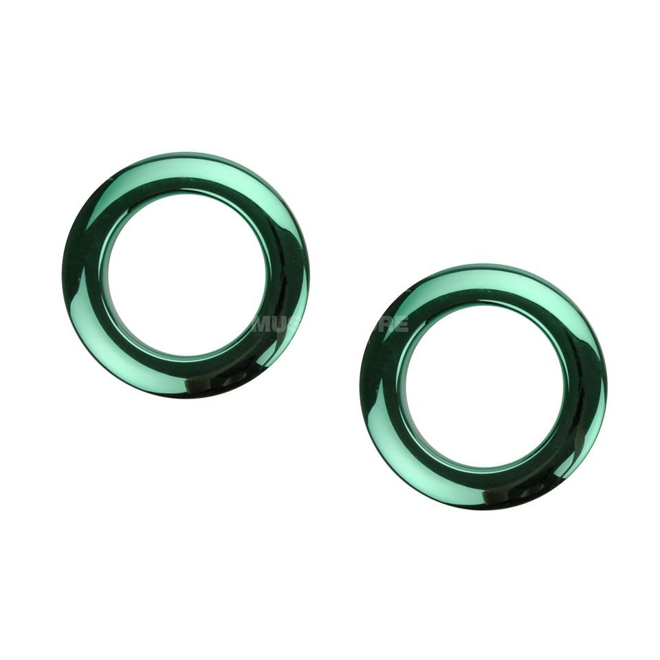 "BASS DRUM O´S BD-Head Reinforcement Ring 2"" Green Chrome HCG2 x2 Produktbillede"
