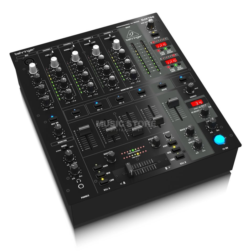 behringer djx750 5 channel dj mixer. Black Bedroom Furniture Sets. Home Design Ideas