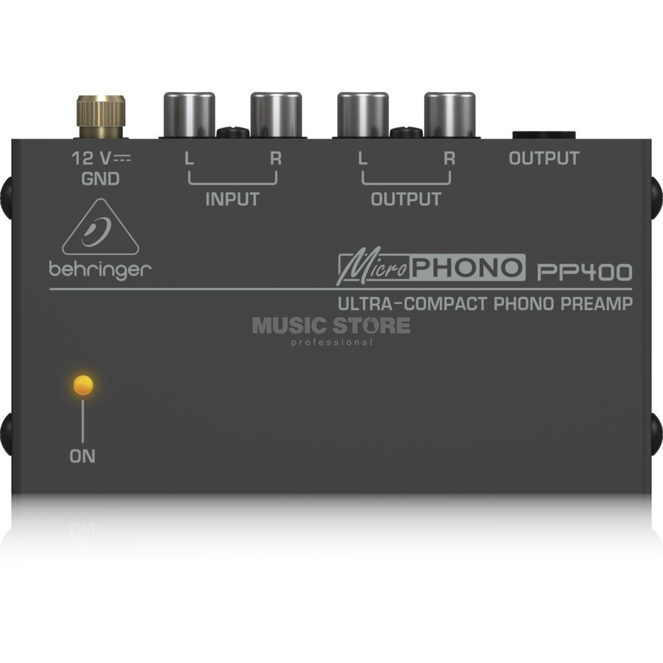 Behringer PP400 MICROPHONO Ultra-Compact Phono Preamp Produktbillede