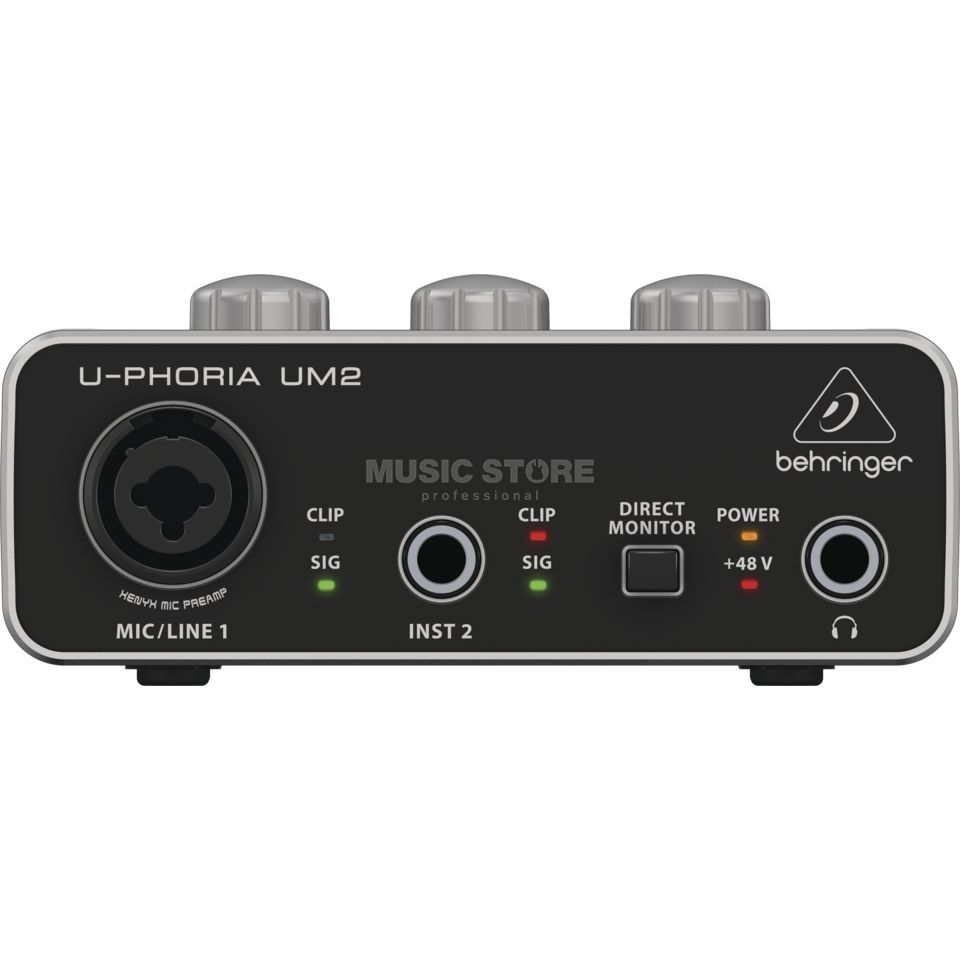 Behringer U-Phoria UM2 USB Audio Interface Produktbillede