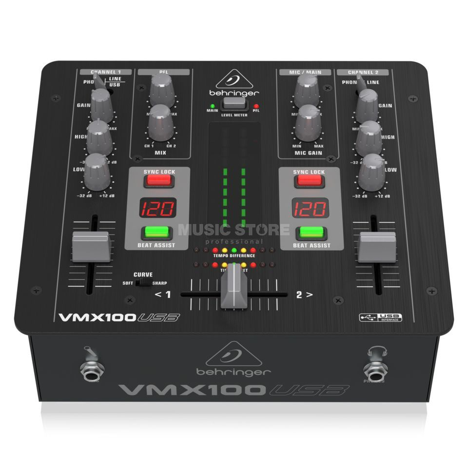 Behringer VMX100USB 2 Channel DJ Mixer with USB Produktbillede