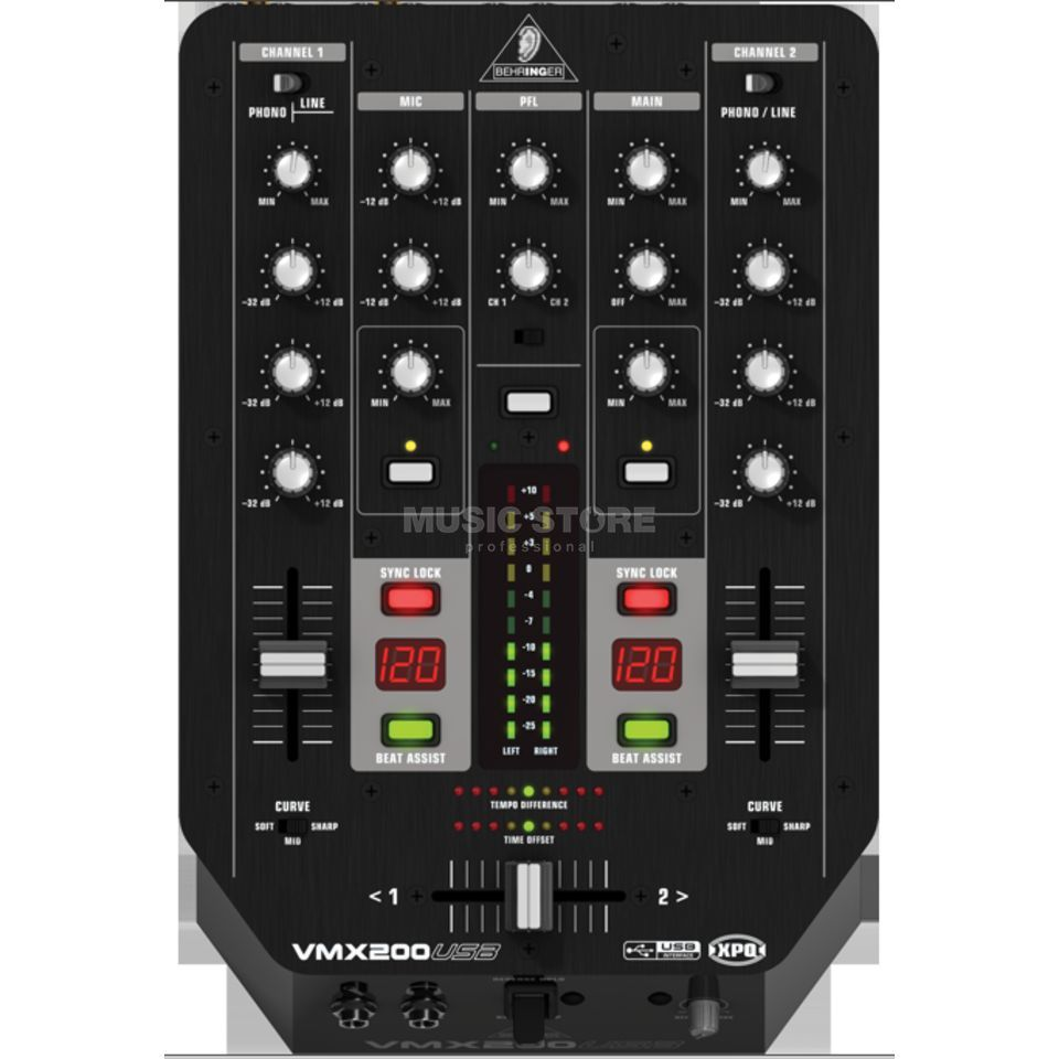 Behringer VMX200USB 2 Channel DJ Mixer with USB Product Image
