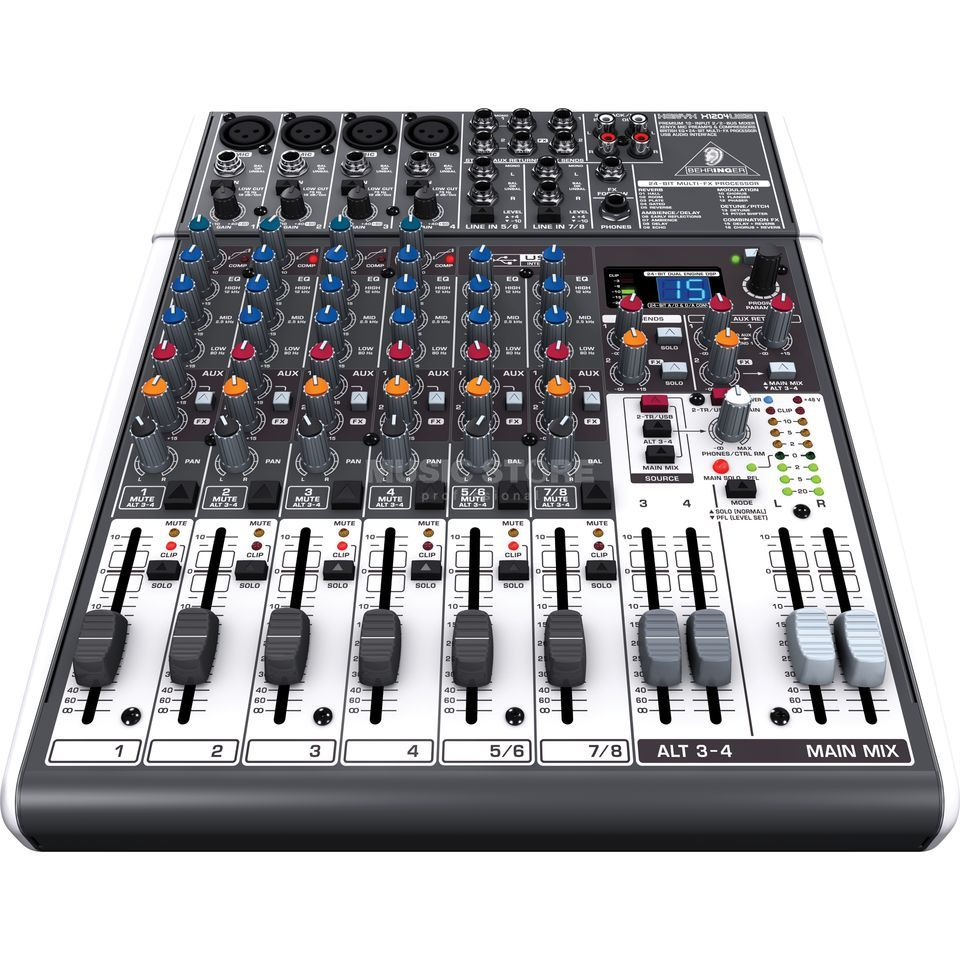 Behringer XENYX X1204USB 12-Channel  Effect Mixer Product Image