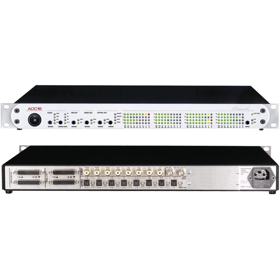 Benchmark Media Systems ADC-16 SRM silver 16-CH A/D incl. RackEars Produktbillede