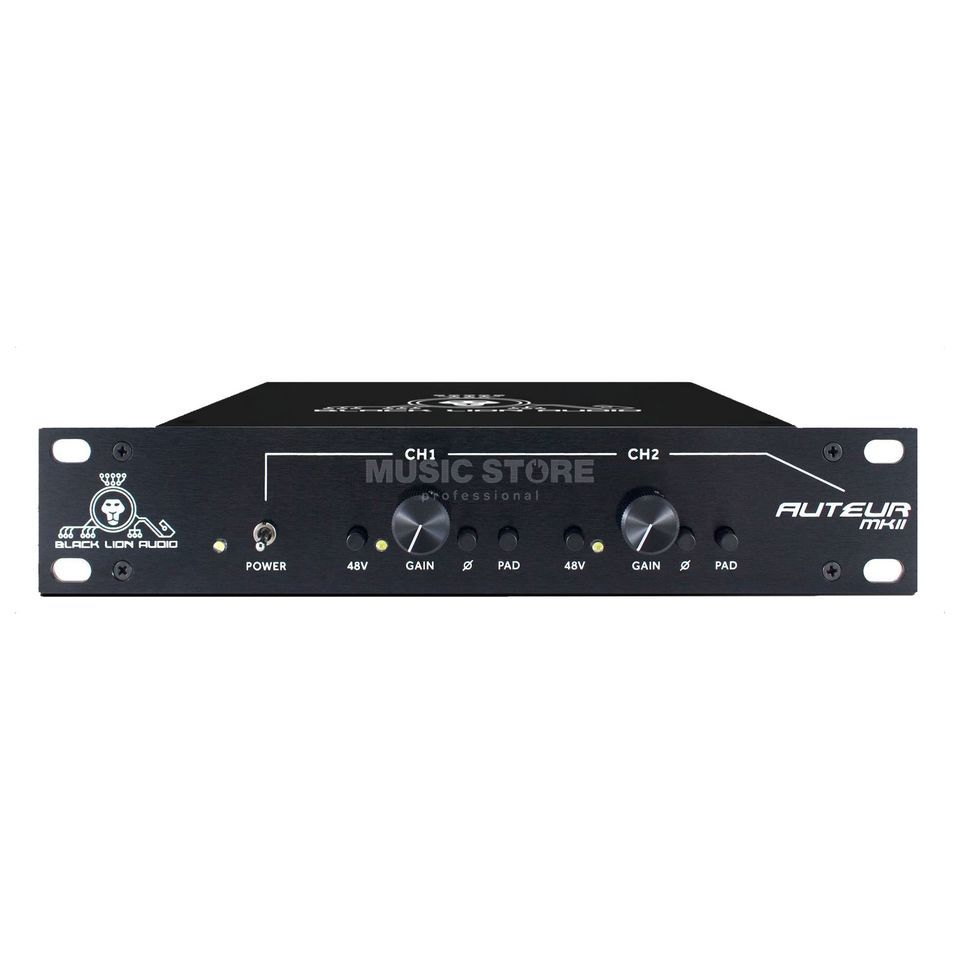 Black Lion Audio Auteur MKII Mic Pre 2-Channel Preamp Product Image