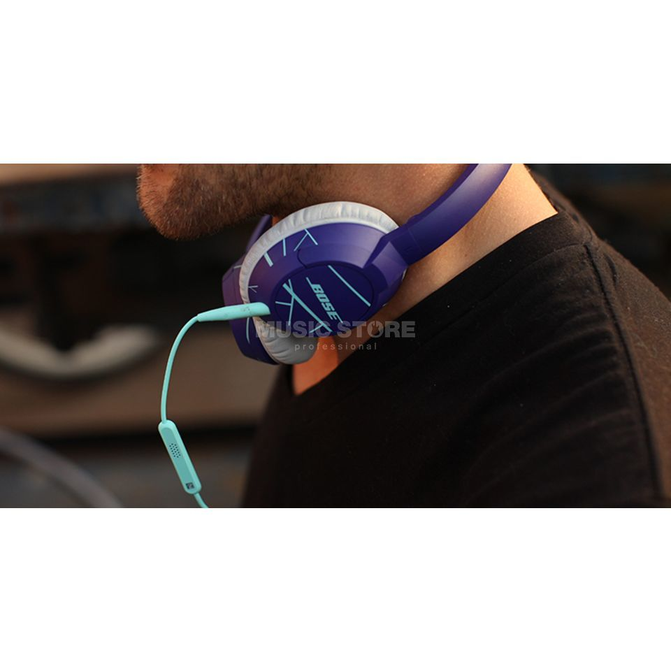 Bose SoundTrue On-Ear, purple / mint Headphones Produktbillede