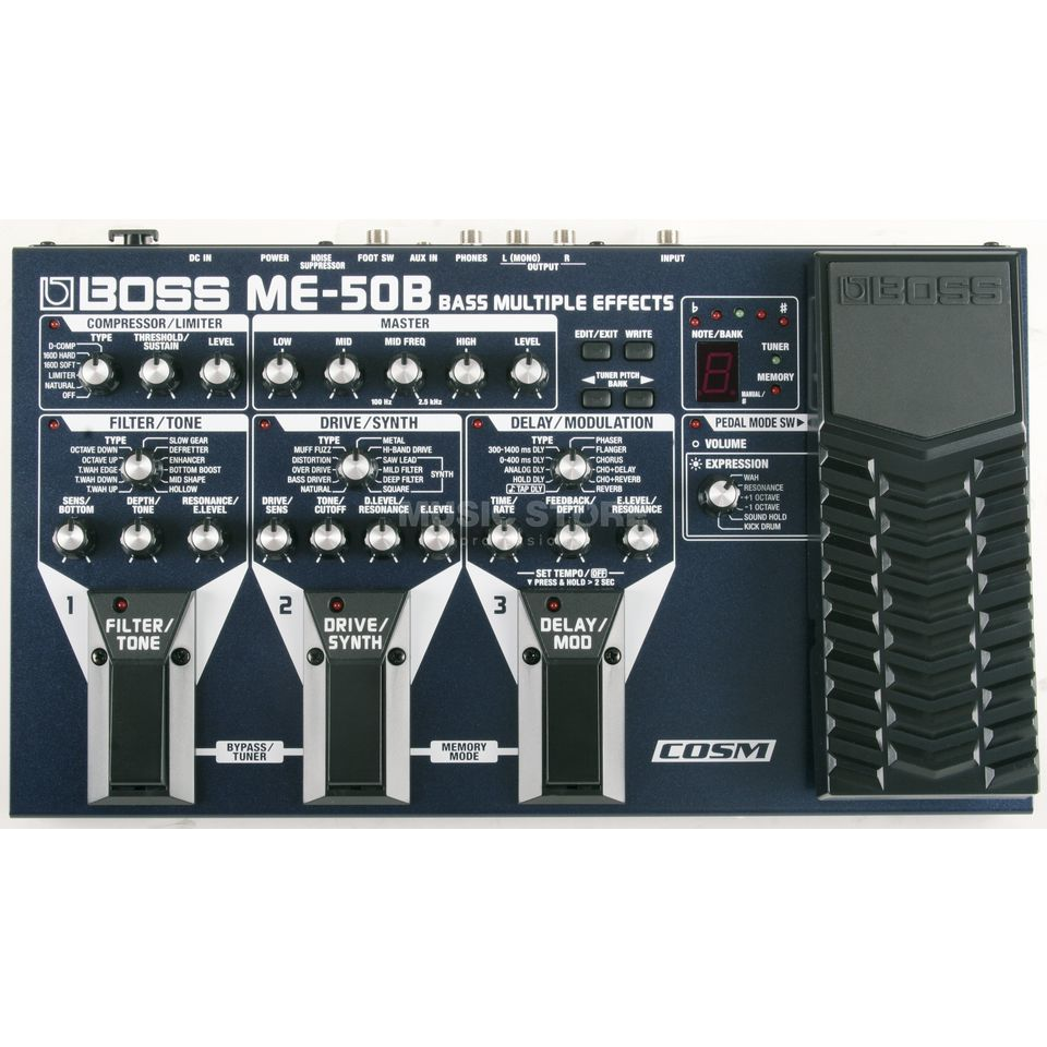 Boss ME-50B Bass Multi-FX-Processor Power Supply optional Produktbillede