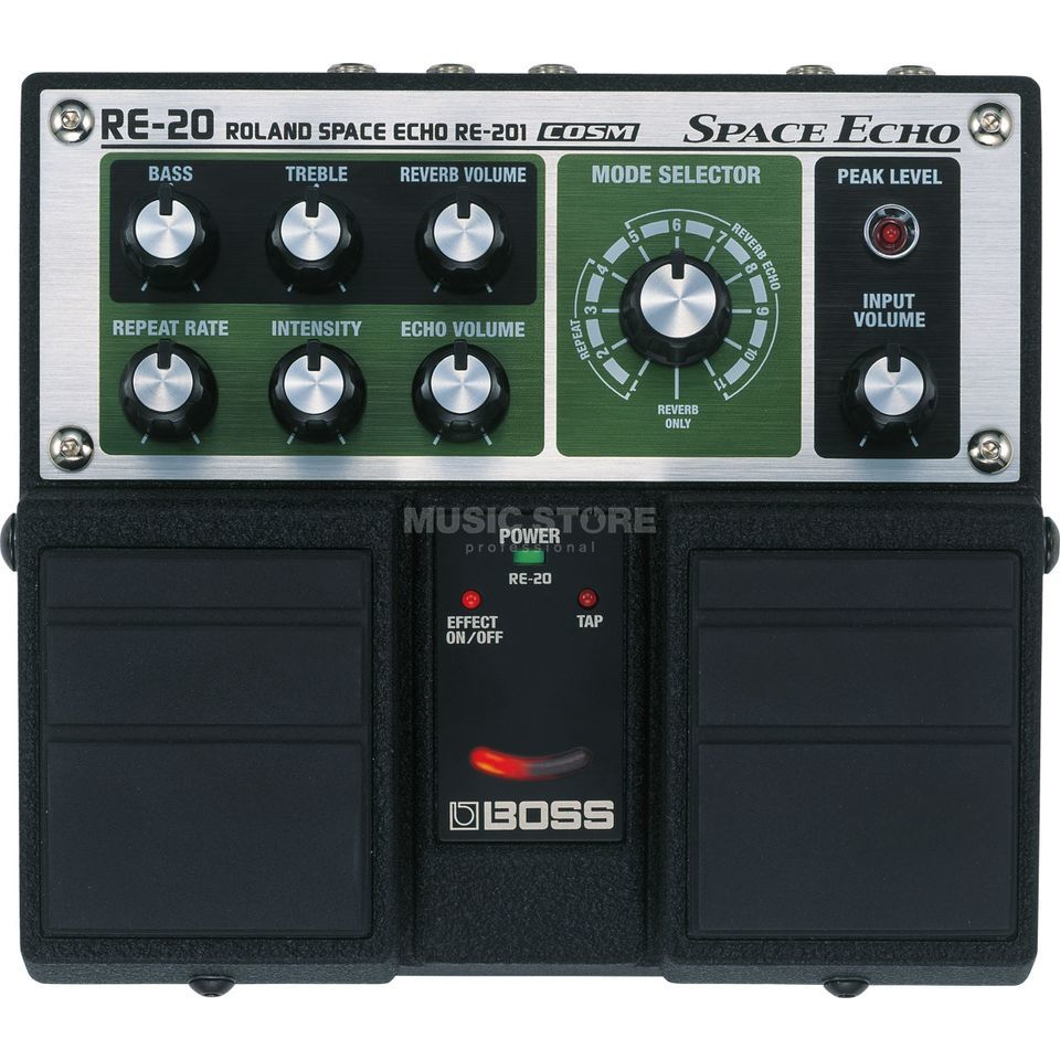 Boss RE-20 Twin Pedal Space Echo Pe dal   Produktbillede