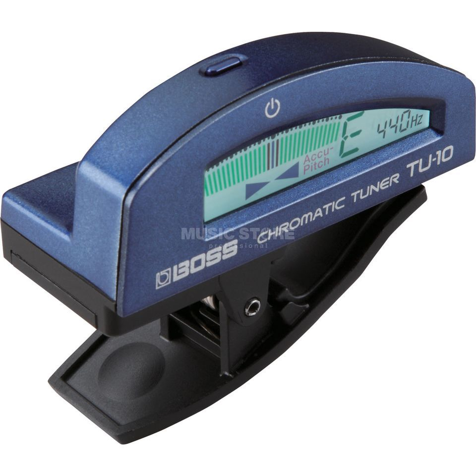 Boss TU-10-MBL Clip-on Tuner Metallic Blue Produktbild