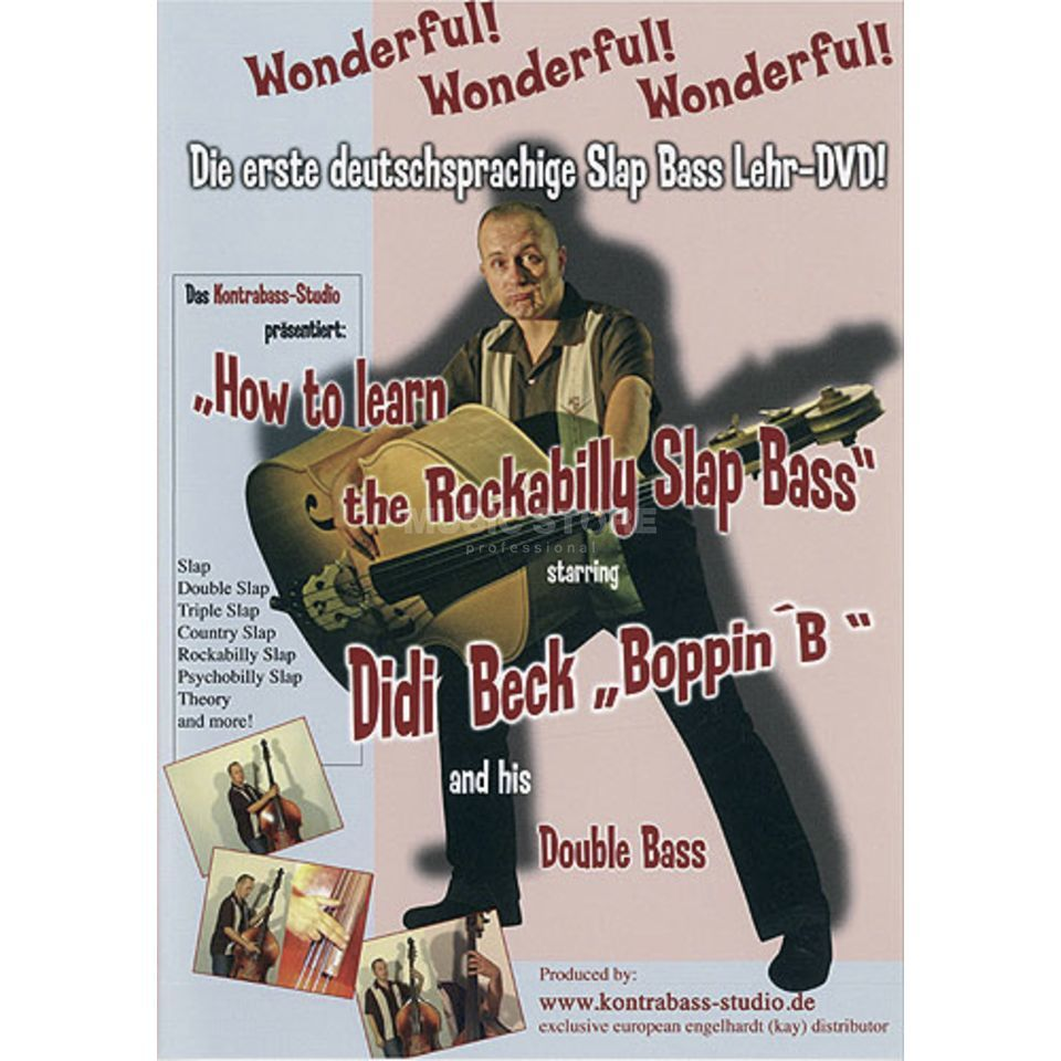 Bosworth Music Learn Rockabilly Slap Bass DVD, Didi Beck Produktbillede