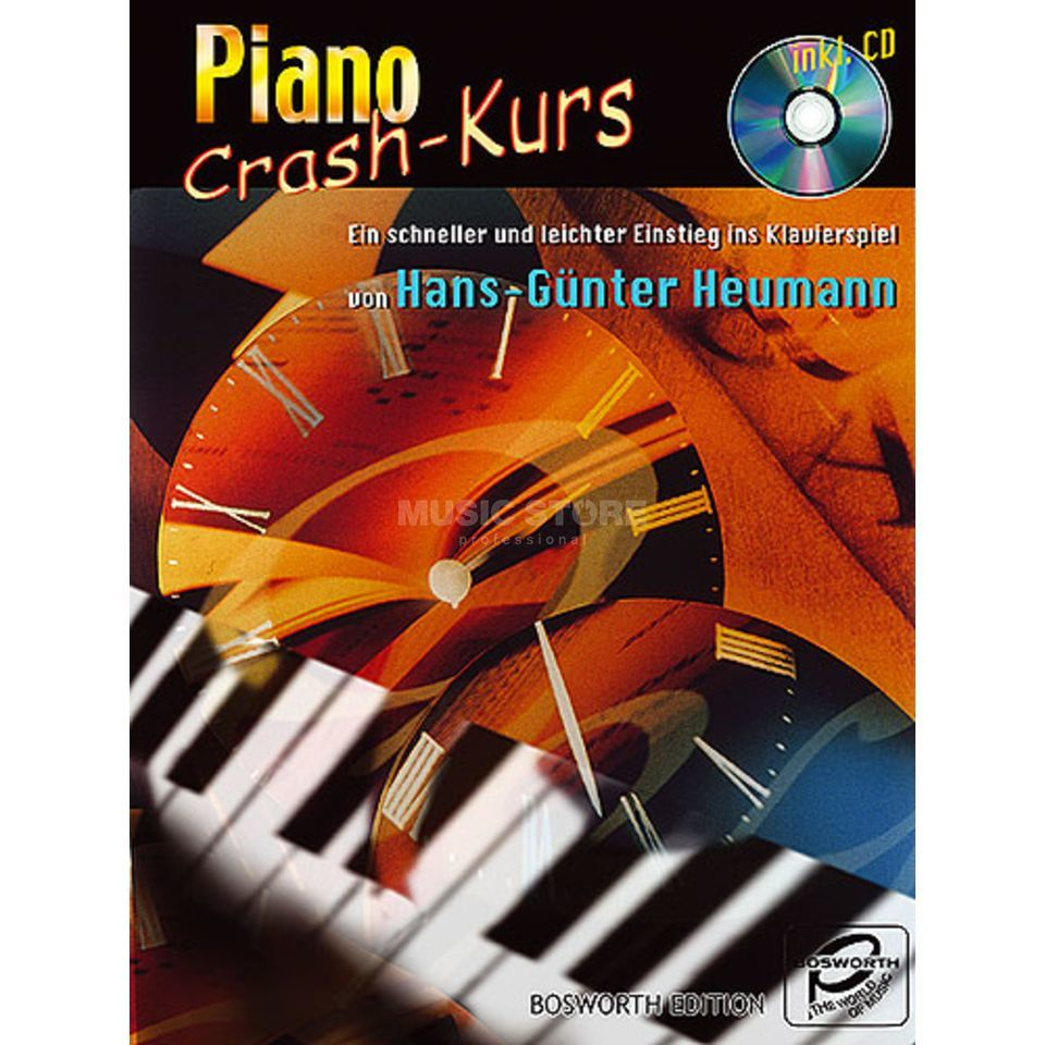 Bosworth Music Piano Crash Kurs Heumann, Buch und CD Produktbild