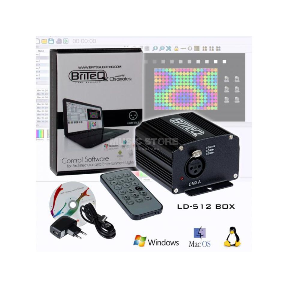 Briteq LD-512 BOX DMX Software 512 Channels Produktbild