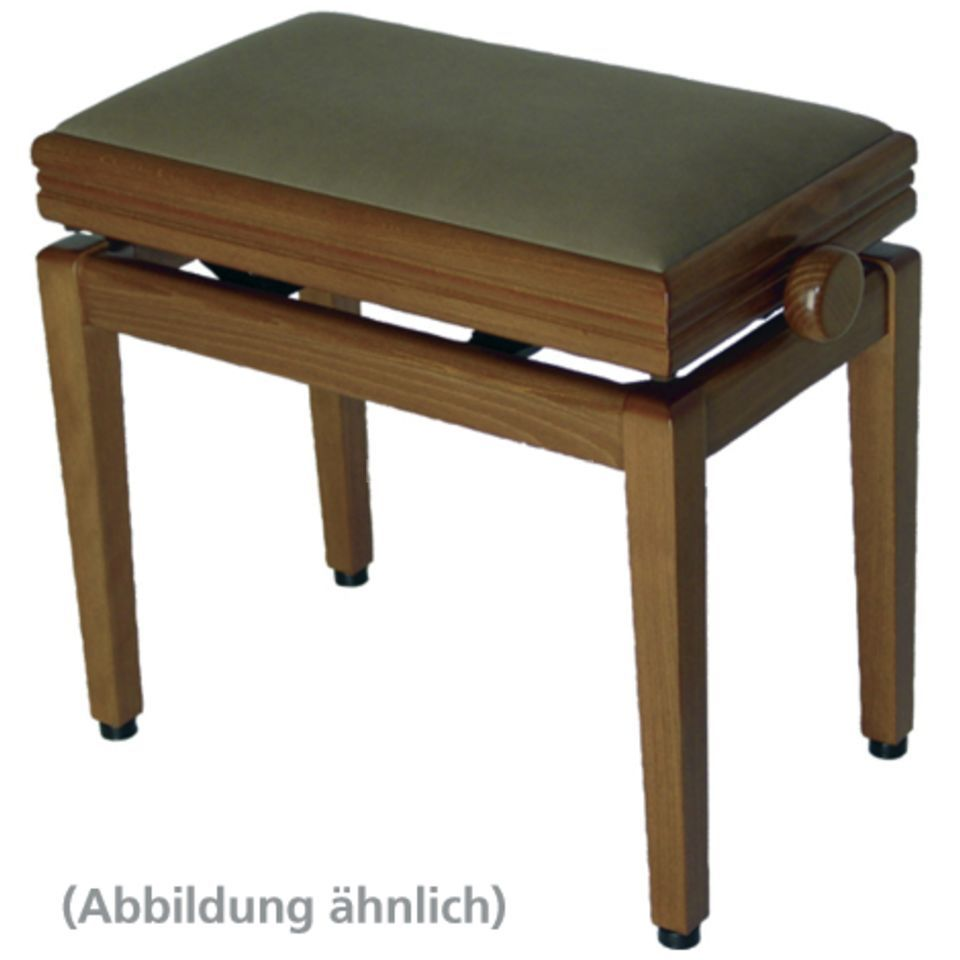 Burghardt B2000 Piano Bench - Oak Leather Produktbillede