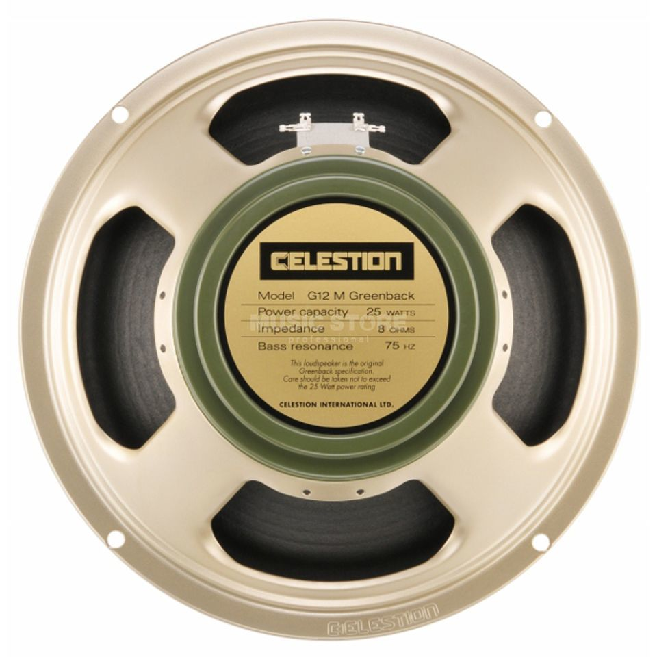 "Celestion G12M Greenback 12"" Speaker 16 Ohm Classic Series/ 25Watt Produktbillede"