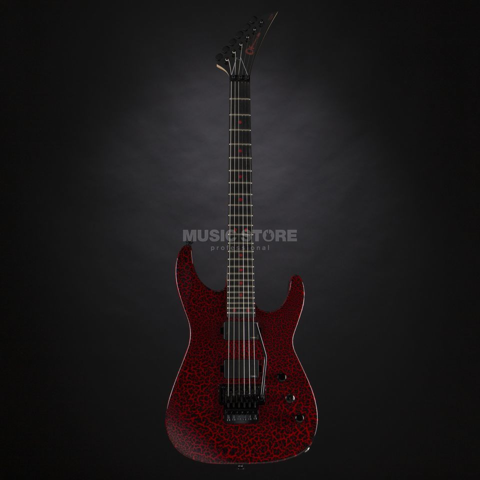 Charvel Custom Shop Dinky DK Rocket Red Black Crackle #9918 Produktbild
