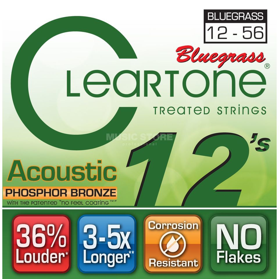Cleartone A-Guitar Strings 12-56 CT7423 Bluegrass, EMP Strings Produktbillede