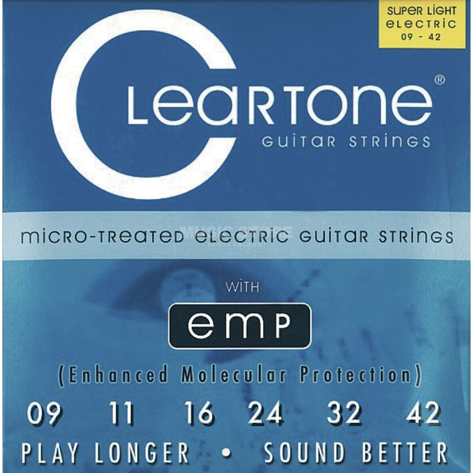 Cleartone E-Guitar Strings 09-42 CT9409 Ultra Light, EMP Strings Produktbillede