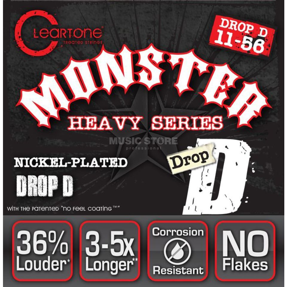 Cleartone E-Guitar Strings 11-56 CT9456 Drop D, EMP Strings Produktbillede