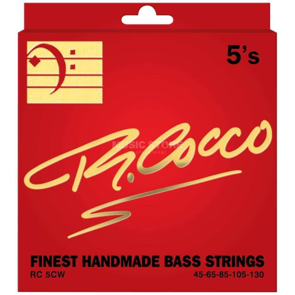 Cocco RC5CW Bass Strings 45-130 5 Set, 45-65-85-105-130  Classic Wound Zdjęcie produktu
