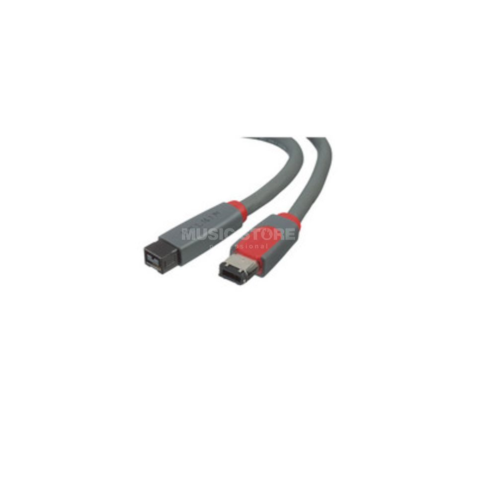 ComLine FireWire Cable 9P/6P FW800 > FW400 6PIN, 1m Produktbillede