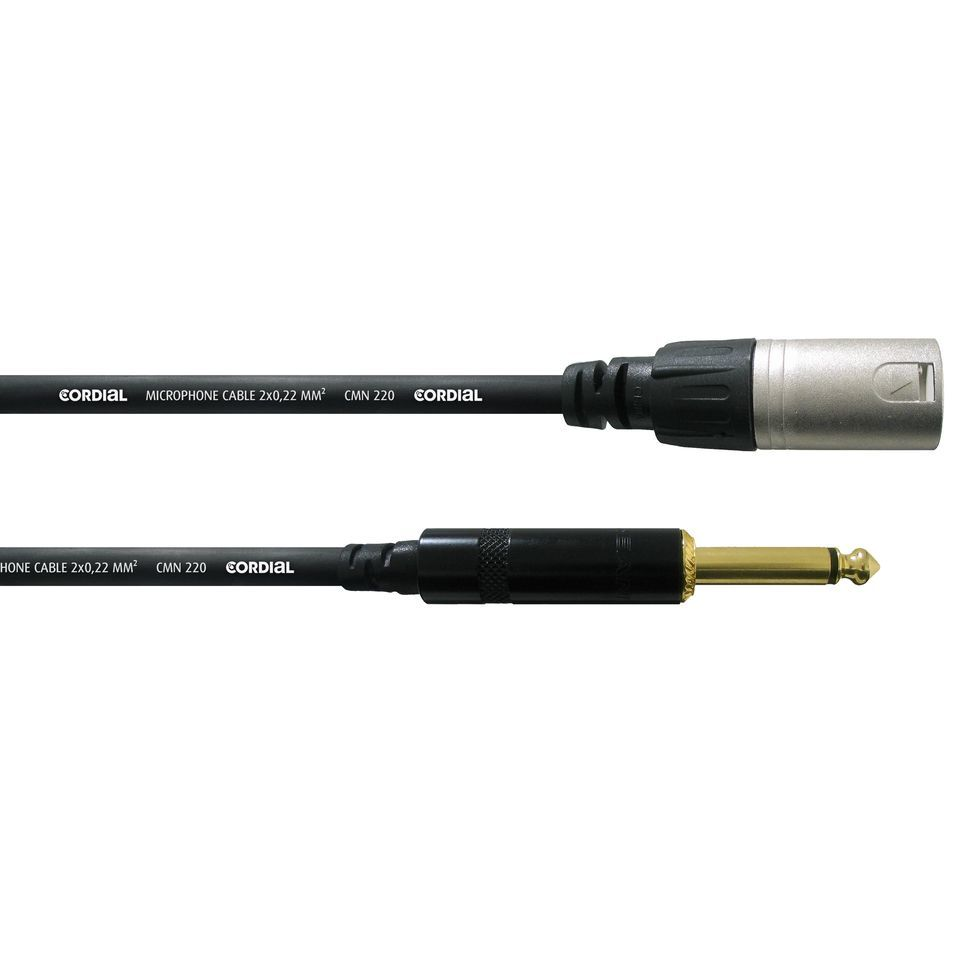 Cordial CCM 10 MP intro Microphone Cable XLR male - Jack 10m Rean Product Image
