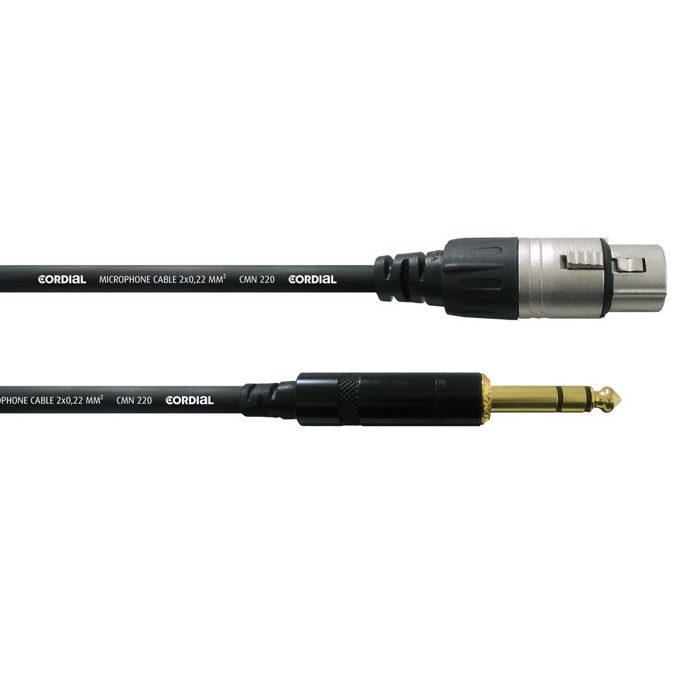 Cordial CFM 0.6 FV intro Microphone Cable XLR female - Jack stereo 0,6m Rean Produktbillede