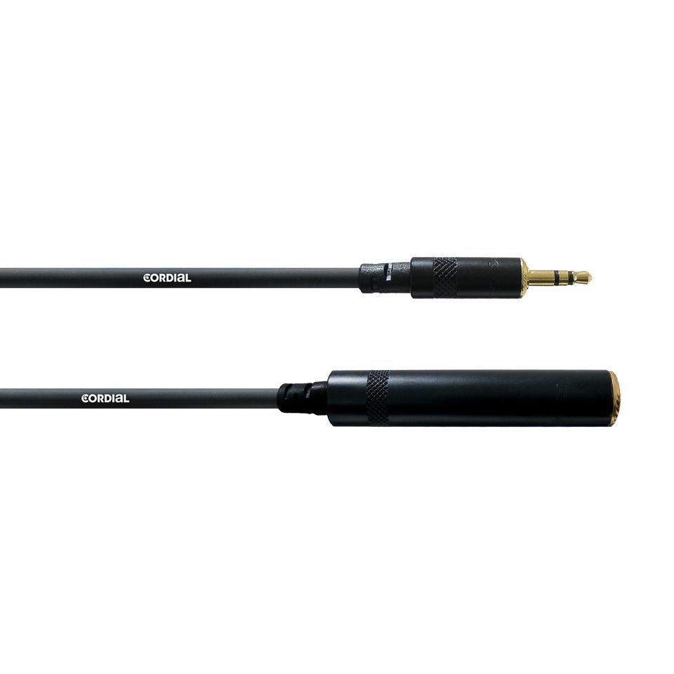 Cordial CFM 3 WK Adapterkabel 3,5 Miniklinke / 6,3 Klinke female ...