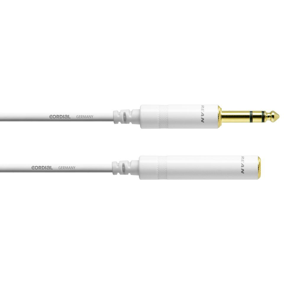 Cordial CFM 5 VK-SNOW 6.3 mm Stereo Extension Cable 5m Produktbillede