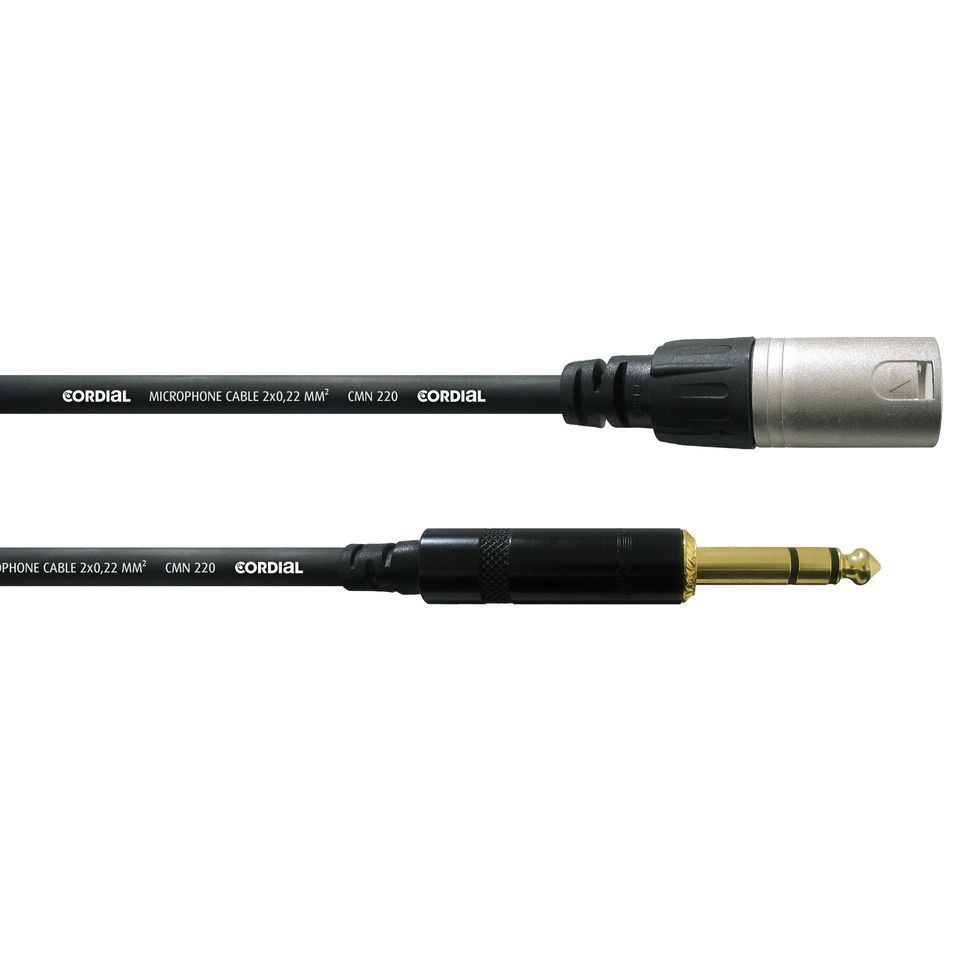 Cordial CFM 6 MV intro Microphone Cable XLR male - Jack stereo 6m Rean Produktbillede