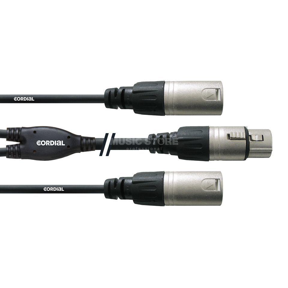Cordial CFY 0.3 FMM Y-Adapterkabel 2x XLR male - XLR female 0,3m Rean