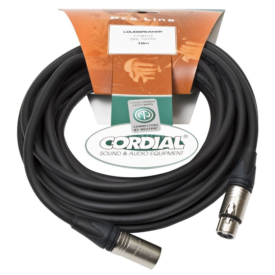 Cordial CPL 10 FM peak Speaker Cable XLR 10m 2x2,5 mm² Neutrik Product Image