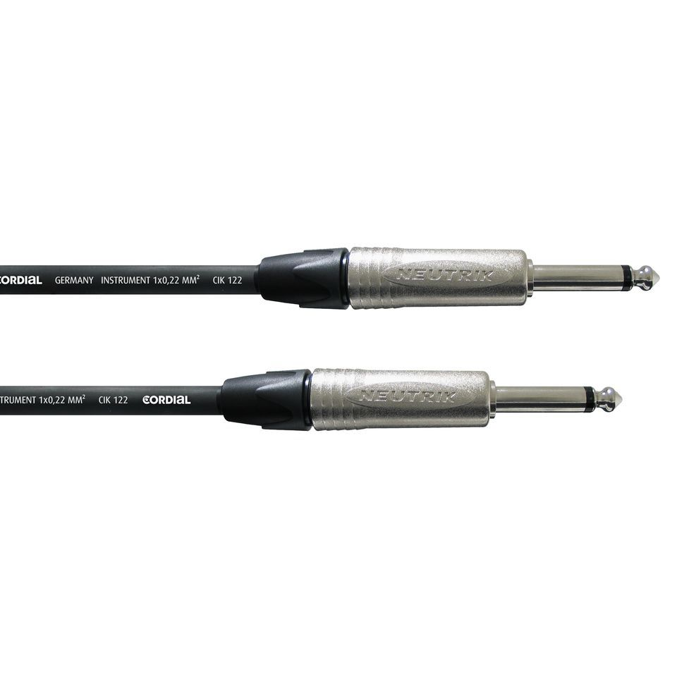 Cordial CXI 9 PP Instrument Cable 9m Neutrik Product Image