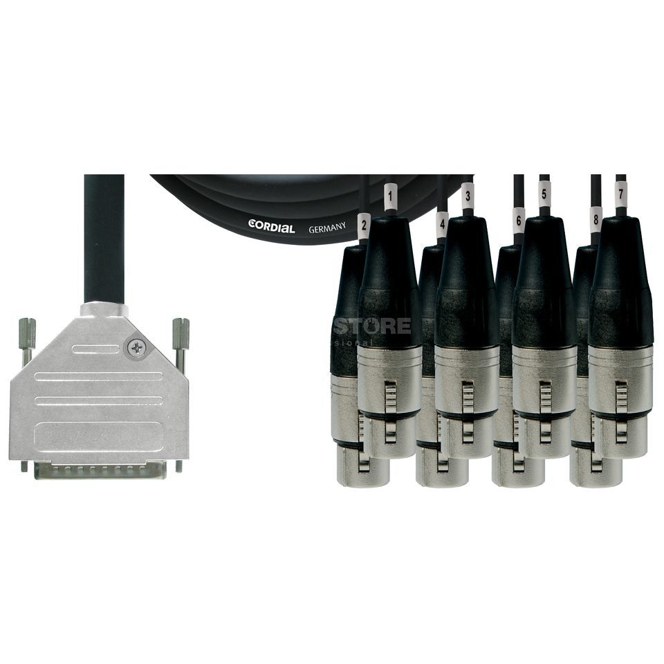 Cordial Economy Multicore D-Sub/XLRf 8-fach, Rean Stecker, 3m Product Image