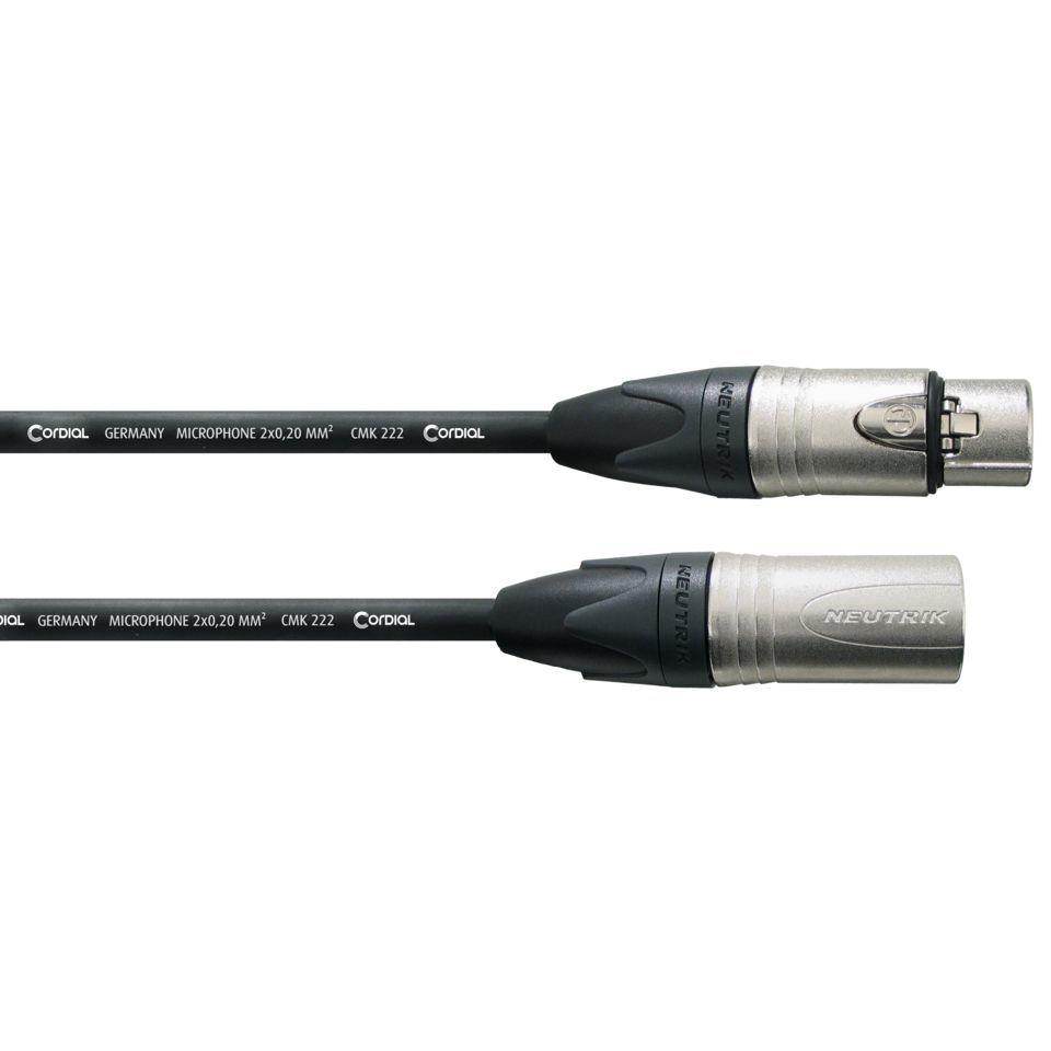 cordial microphone cable 10m xlr neutrik connectors. Black Bedroom Furniture Sets. Home Design Ideas