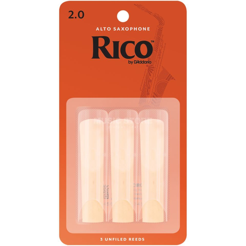 D'Addario 2.0 Alto Sax Reeds 3 Pack Product Image
