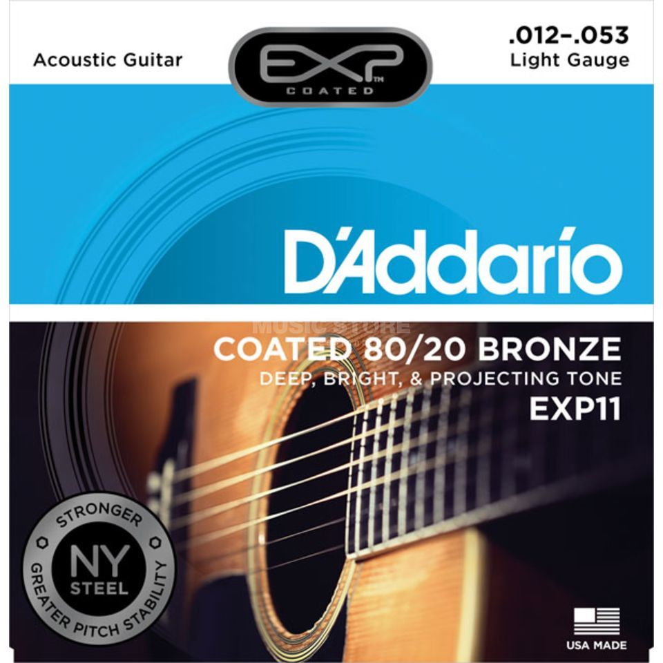 D'Addario A-Guit.Strings EXP11 12-53 Coated 80/20 Bronze Produktbillede